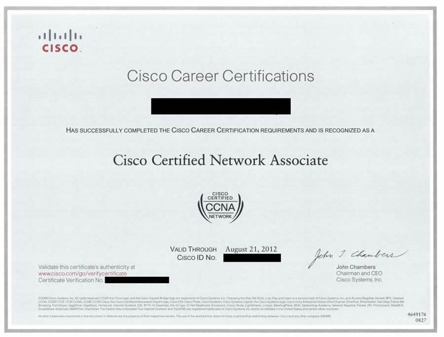 Ccna Sample Certificate Hiit Plc